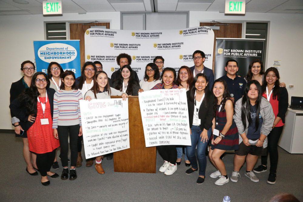 Pat Brown Institute Next Generation Engagement Program Students