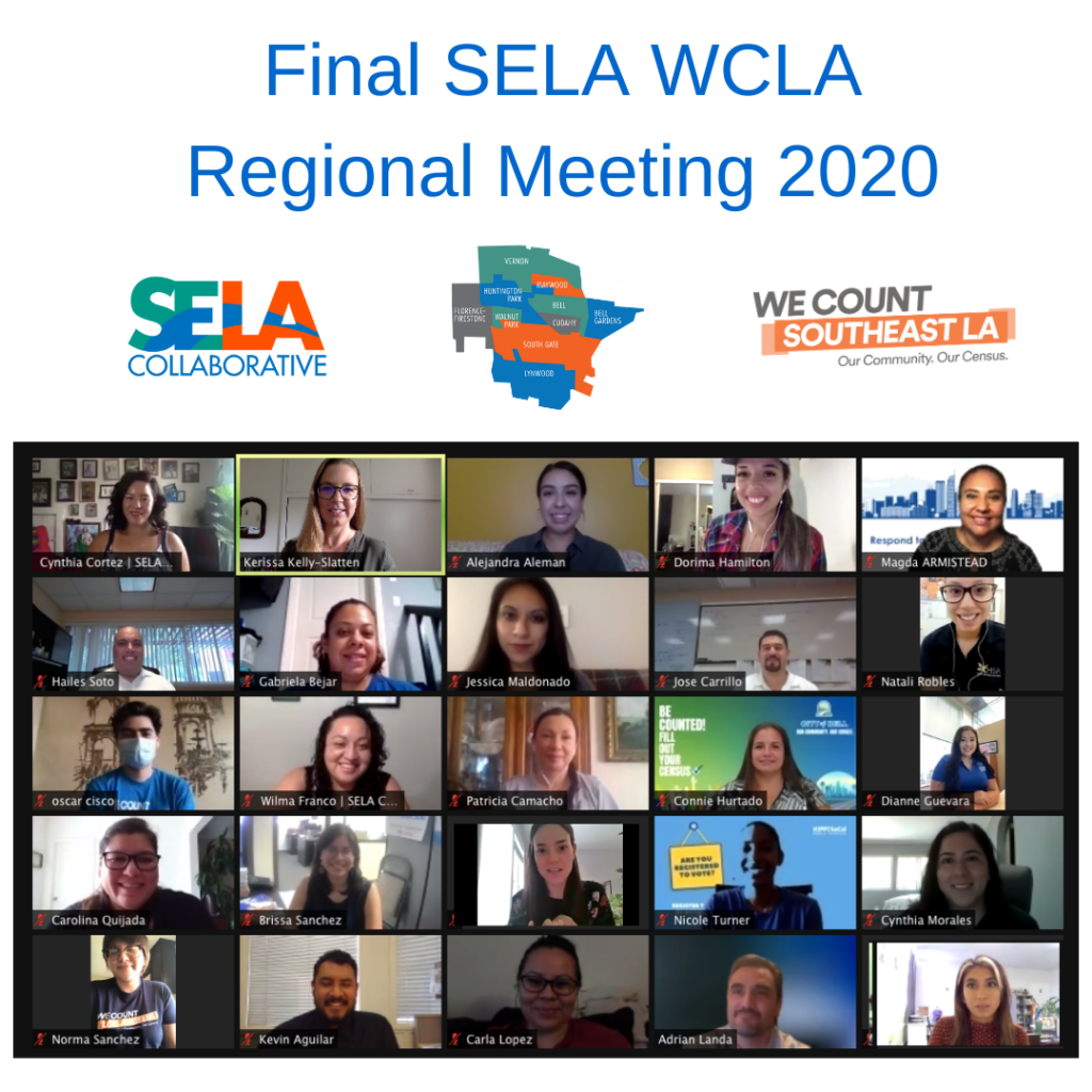 Final SELA We Count LA (WCLA) Regional Census Meeting
