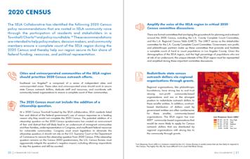 SELA Policy and Advocacy Agenda